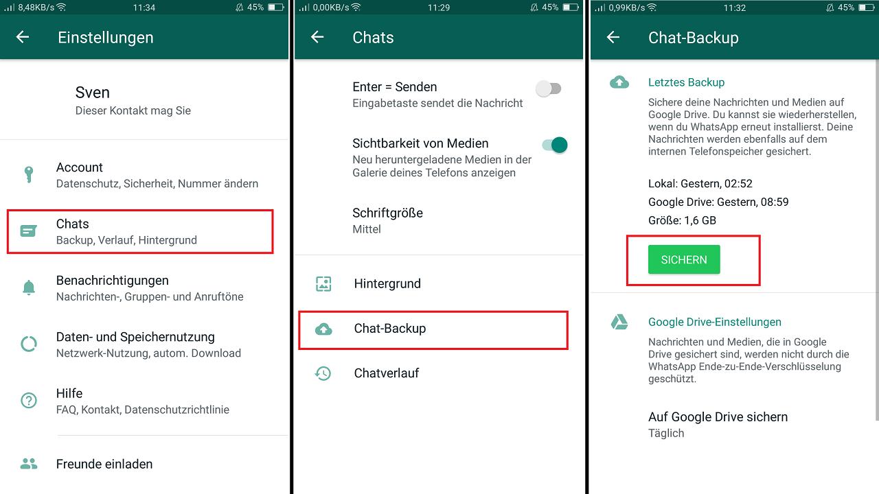 WhatsApp-Backup erstellen - so gehen Sie vor - CHIP