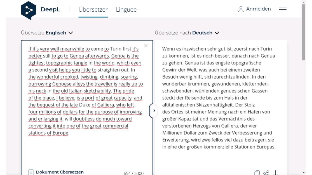 Kostenlos übersetzen italienisch deutsch in Linguee