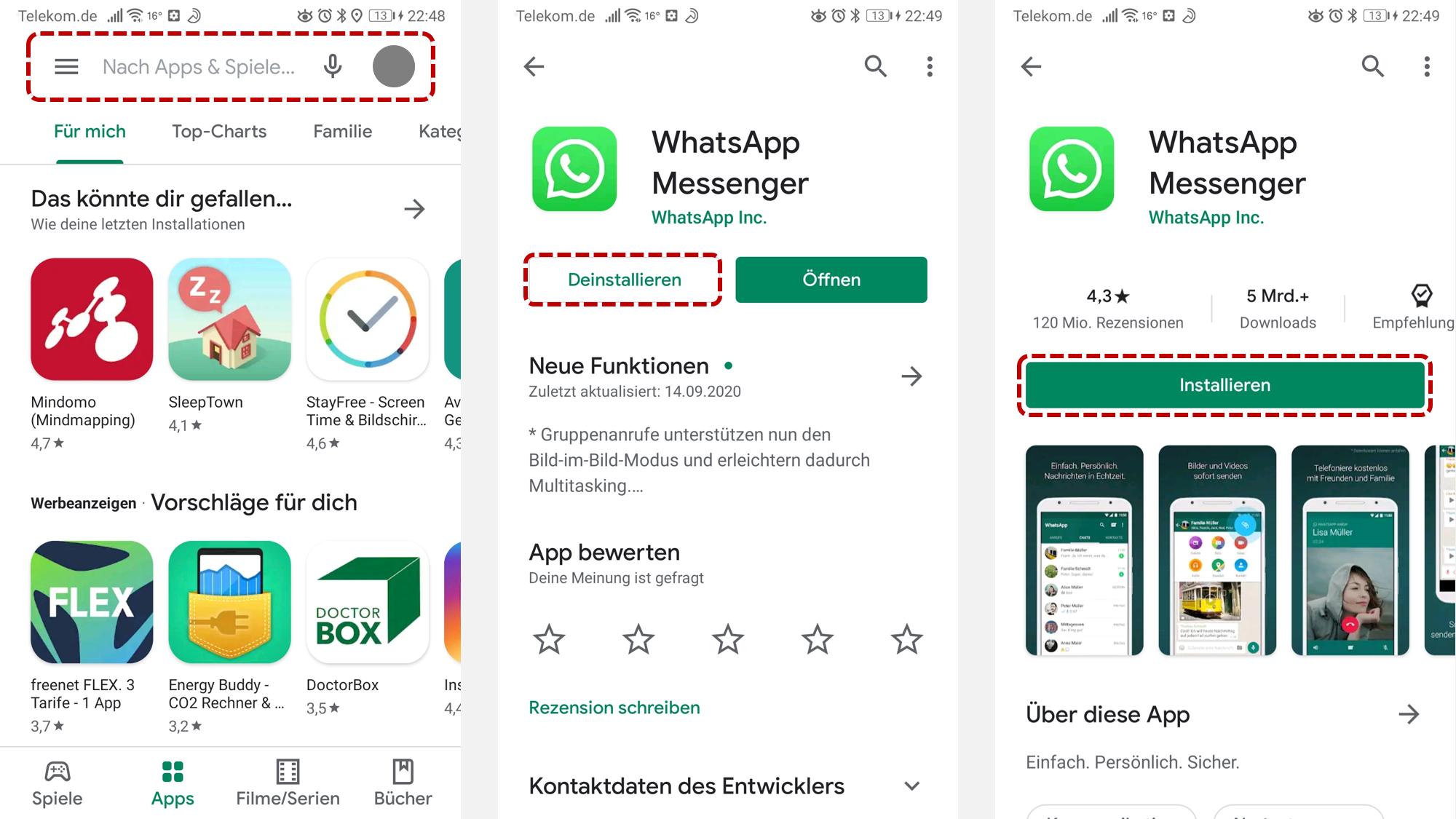 WhatsApp neu installieren So geht's unter Android   CHIP