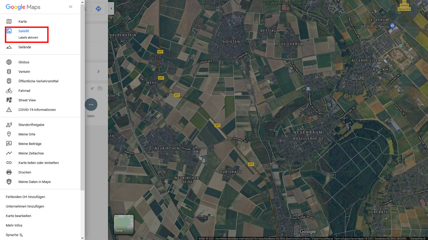 Google Maps ohne Beschriftung nutzen: So geht's - CHIP