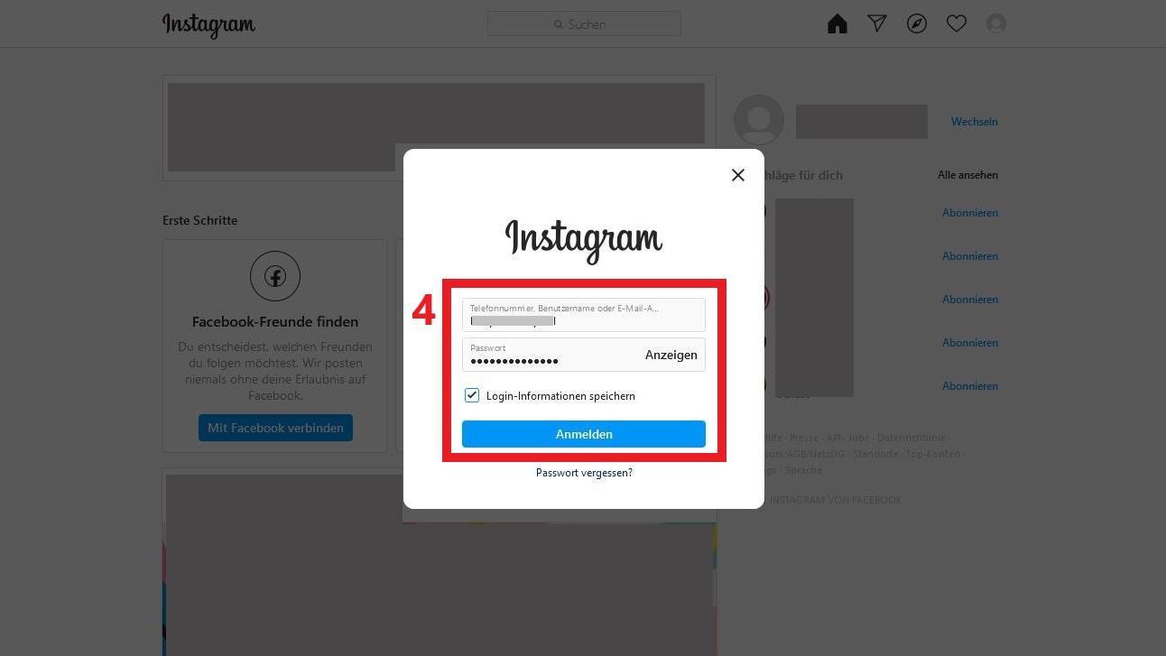Instagram-Account am PC wechseln - so funktioniert es - CHIP