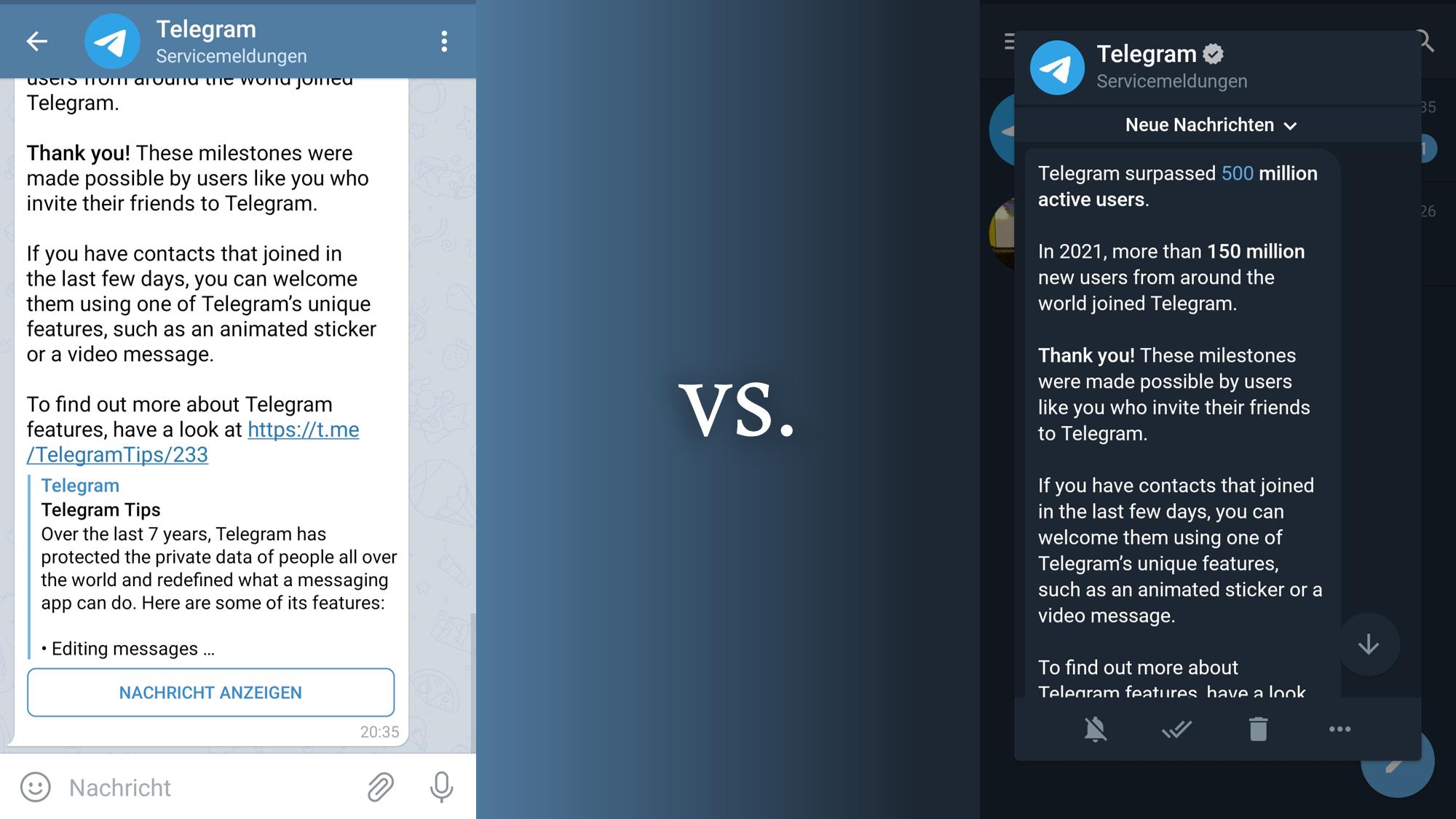 Telegram vs. Telegram X Das sind die Unterschiede   CHIP