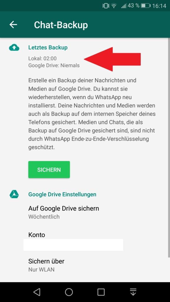 Wiederherstellen gelöscht ohne verlauf backup whatsapp Mit/Ohne Backup:
